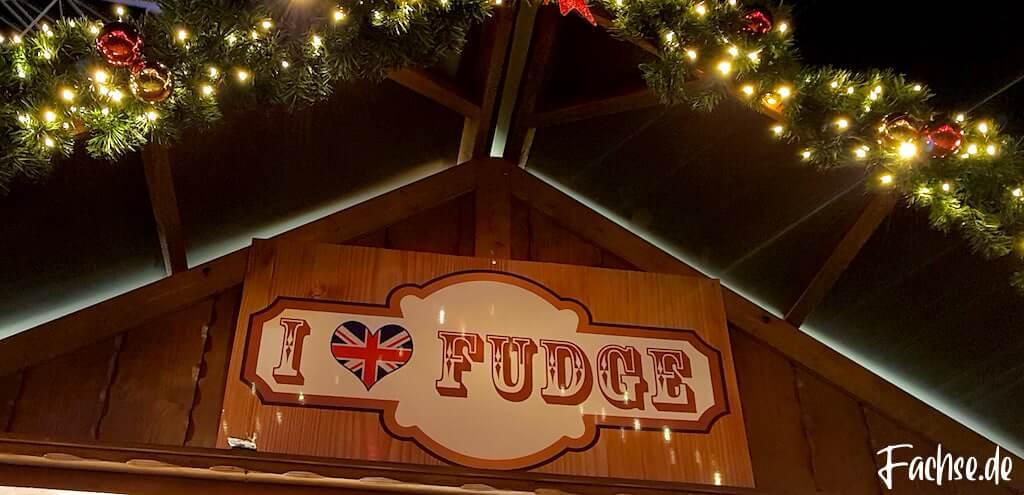I love Fudge Schild