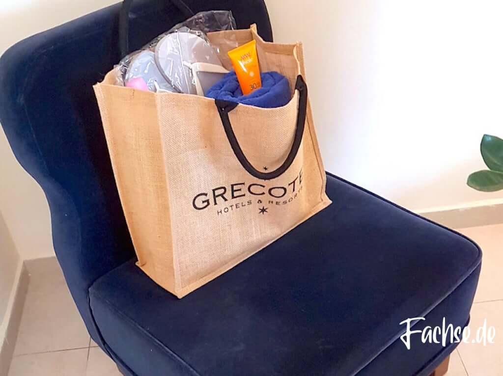 Strandtasche Grecotel Creta Palace Kreta Strand Beach Sommerurlaub Sonnencreme