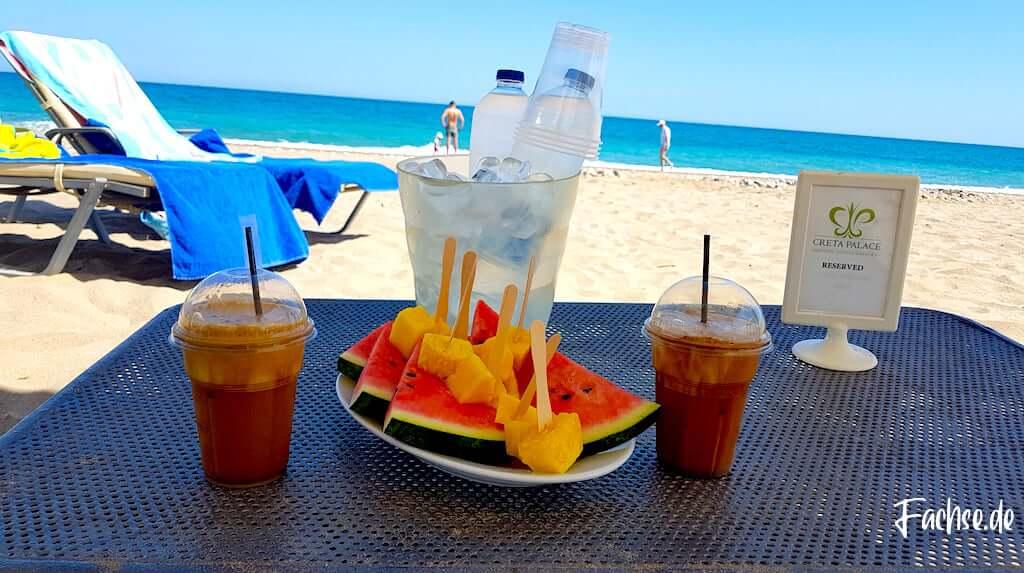Strand Meer Kreta Grecotel Creta Palace Urlaub Sommer Frapee