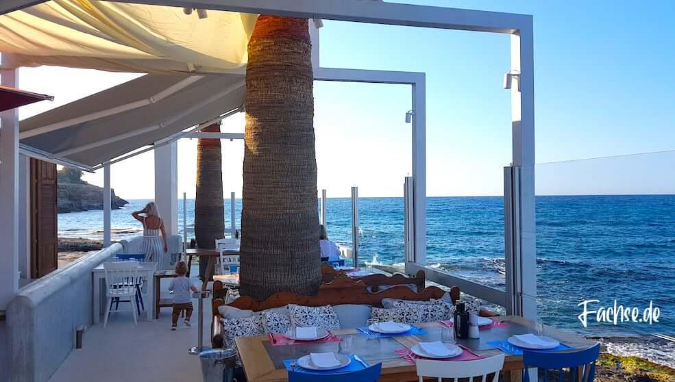 Cavo Rethymnon Kreta Restaurant Griechenland Meer Aussicht