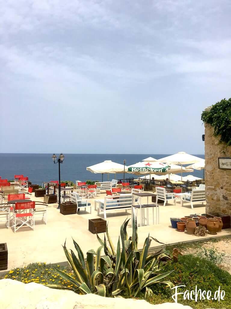 Rethymnon Kreta Thalassographia Restaurant am Meer