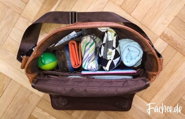 Wickeltasche Innenleben Inhalt Was kommt in die Wickeltasche