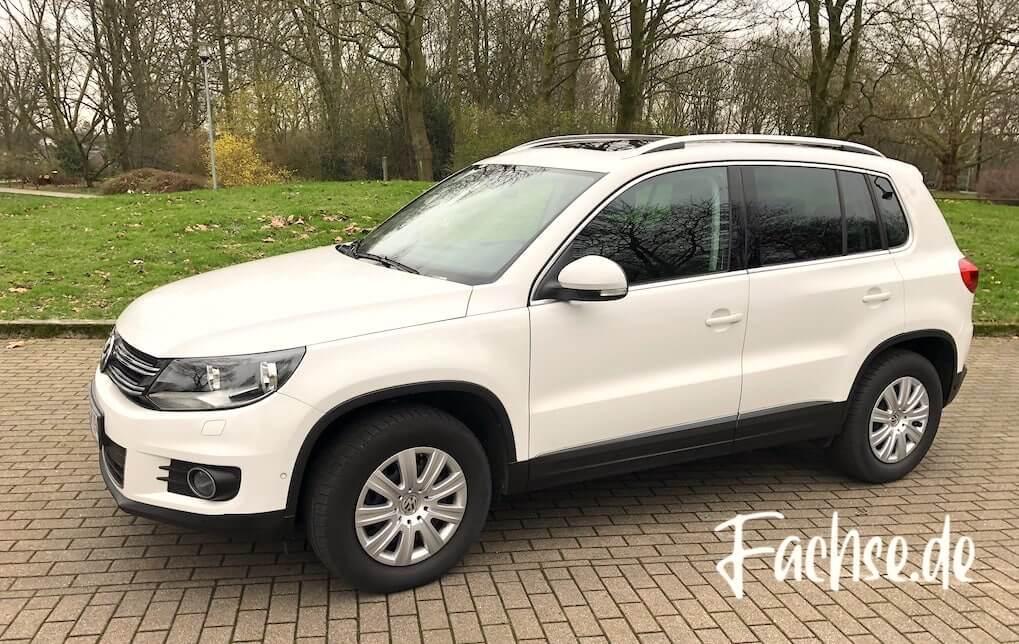 VW Tiguan weiß Seitenansicht