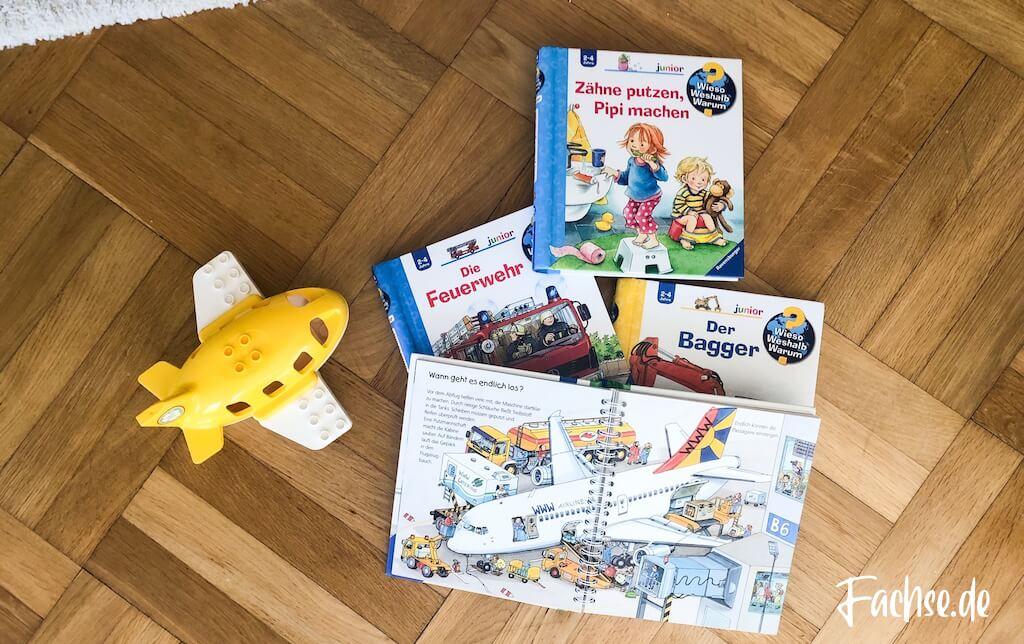 Kinderbuch Junge Kleinkind Klappenbuch Duplo Flugzeug Baggerbuch