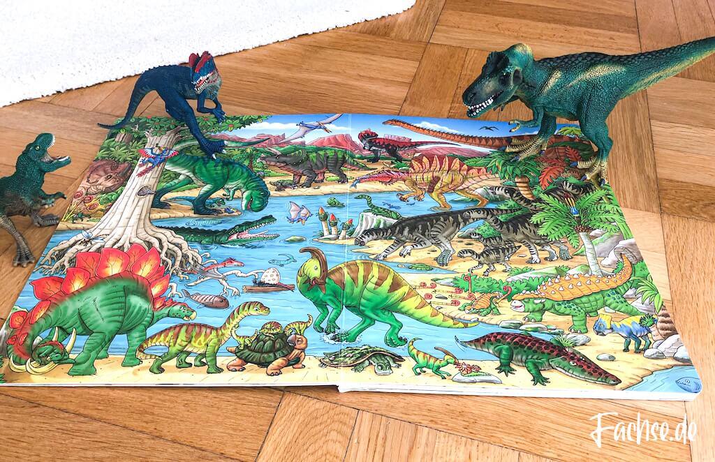 Kinderbuch Junge Kleinkind Klappenbuch Dinosaurier Dinobuch