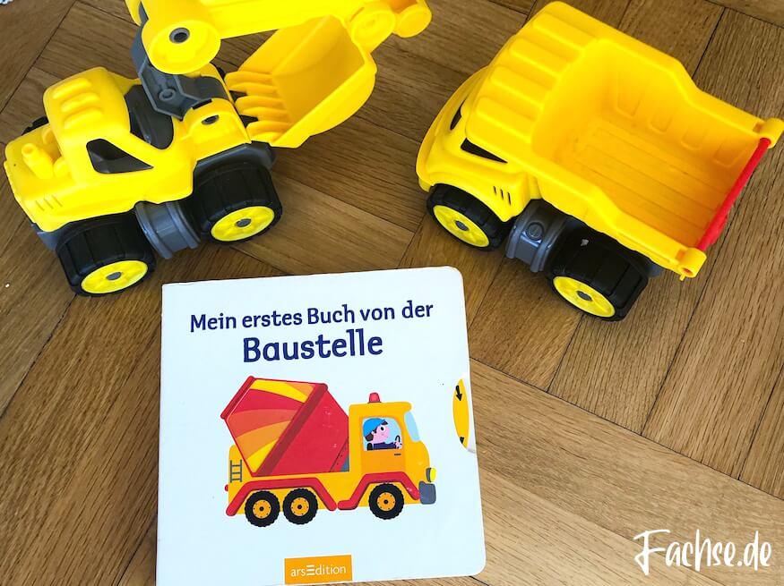 Kinderbuch Junge Kleinkind Klappenbuch Babybuch Baustellenbuch Kipplader