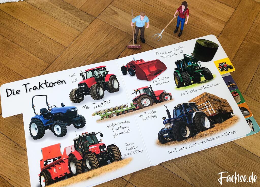 Kinderbuch Junge Kleinkind Klappenbuch Babybuch Baustellenbuch Bauernhofbuch Bauernhof Traktor