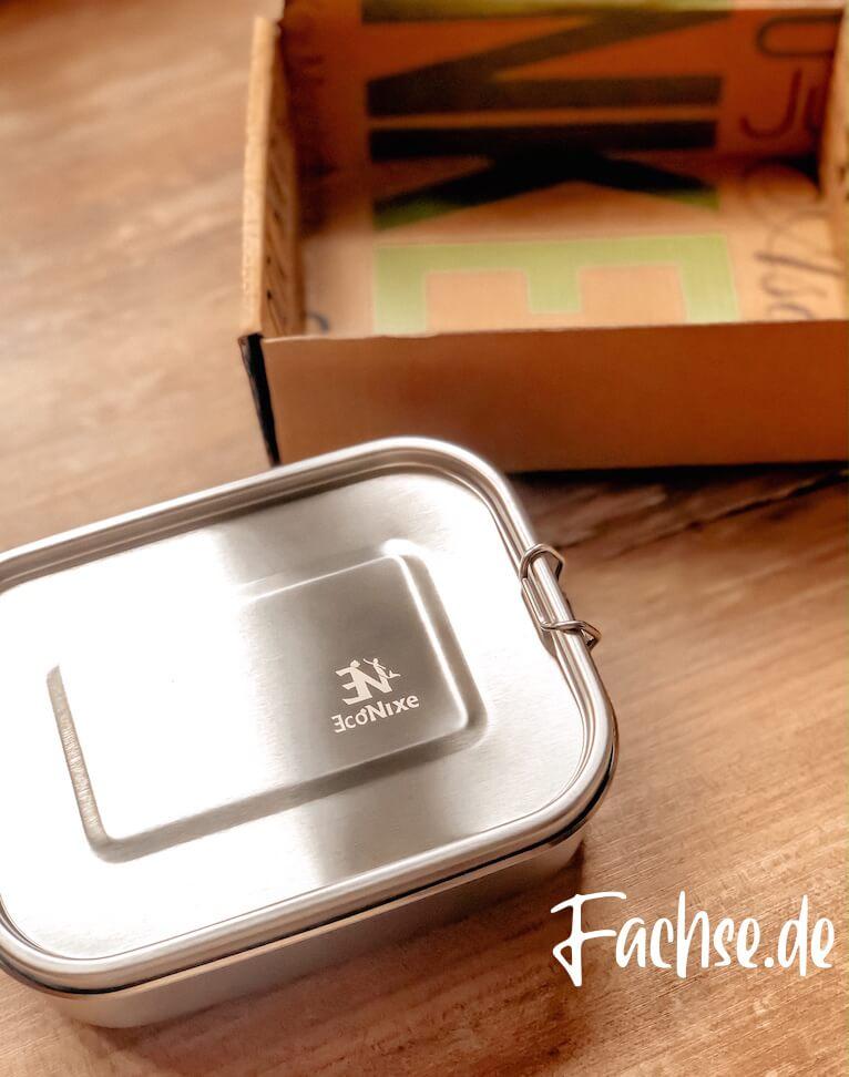 econixe Edelstahl Brotdose Lunchbox Bentobox Kindergarten Kita